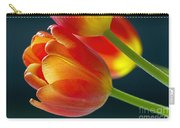 Tulips On Black 2a Carry-all Pouch