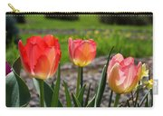 Tulips Red Pink Tulip Flowers Art Prints Carry-all Pouch