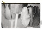 Tulips Still Life In Black And White Carry-all Pouch