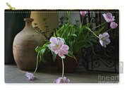 Tulips With Earthenware Jar And Wrought Iron Carry-all Pouch