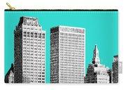 Tulsa Skyline - Aqua Carry-all Pouch