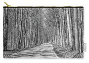 Tunnel Of Trees Black And White Carry-all Pouch