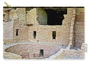 Tunnel Opening In Kiva Of Spruce Tree House On Chapin Mesa In Mesa Verde National Park-colorado  Carry-all Pouch