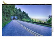 Tunnel Through Mountains On Blue Ridge Parkway In The Morning Carry-all Pouch