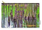 Tupelo/cypress Swamp Reflection At Mile 122 Of Natchez Trace Parkway-mississippi Carry-all Pouch