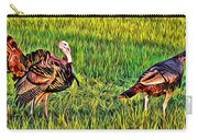 Turkey Pair Carry-all Pouch