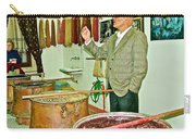 Turkish Rug Salesman Explains About Natural Dye Vats In Weaving Factory In Avanos-turkey  Carry-all Pouch