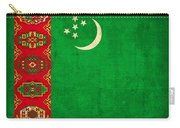 Turkmenistan Flag Vintage Distressed Finish Carry-all Pouch