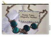 Turquoise French Francs Dragonfly Necklace Carry-all Pouch