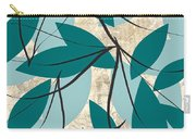 Turquoise Leaves Carry-all Pouch