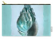 Turquoise Seashells V Carry-all Pouch by Lourry Legarde
