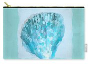 Turquoise Seashells Vii Carry-all Pouch by Lourry Legarde
