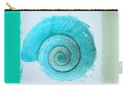 Turquoise Seashells X Carry-all Pouch