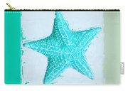 Turquoise Seashells Xi Carry-all Pouch by Lourry Legarde