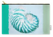 Turquoise Seashells Xii Carry-all Pouch by Lourry Legarde