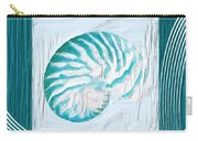 Turquoise Seashells Xxi Carry-all Pouch by Lourry Legarde