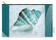 Turquoise Seashells Xxii Carry-all Pouch by Lourry Legarde