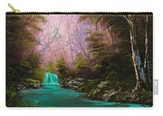 Turquoise Waterfall Carry-all Pouch by C Steele