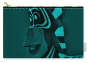 Turquoise Zebra Carry-all Pouch