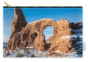 Turret Arch In Winter Carry-all Pouch