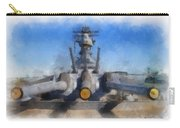 Turrets 1 And 2 Uss Iowa Battleship Photo Art 01 Carry-all Pouch
