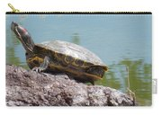 Turtle At The Lake Carry-all Pouch