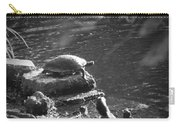 Turtle Bw Carry-all Pouch by Nelson Watkins