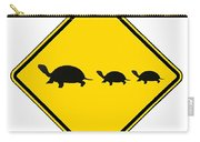 Turtle Crossing Sign Carry-all Pouch