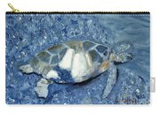 Turtle On Black Sand Beach Carry-all Pouch