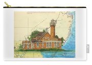 Turtle Rock Lighthouse Pa Chart Map Art  Carry-all Pouch