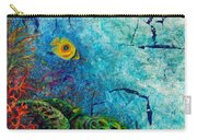 Turtle Wall 1 Carry-all Pouch by Ashley Kujan