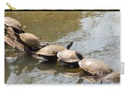 Turtles On A Log Carry-all Pouch