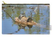Turtles On Stump Carry-all Pouch