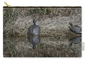 Turtles Sunning On Bank Carry-all Pouch