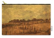 Landscape And Winding Road With Cypress Trees Carry-all Pouch