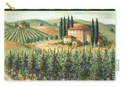 Tuscan Vineyard And Villa Carry-all Pouch by Marilyn Dunlap