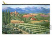 Tuscan Vineyard And Village  Carry-all Pouch by Marilyn Dunlap
