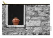 Tuscan Window And Pot Bw And Color Carry-all Pouch