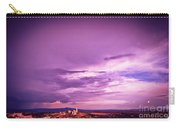 Tuscania Village With Approaching Storm  Italy Carry-all Pouch