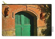 Tuscany Door With Horse Head Carvings Carry-all Pouch