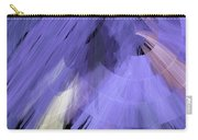 Tutu Stage Left Periwinkle Abstract Carry-all Pouch by Andee Design