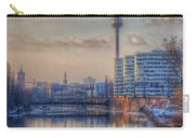 Tv Tower Sunset Carry-all Pouch