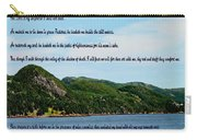 Twenty Third Psalm And Mountains Carry-all Pouch