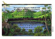 Twenty-third Psalm And Twin Ponds Carry-all Pouch