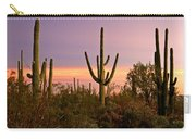 Twilight After Sunset In The Cactus Forests Of Saguaro National Park Carry-all Pouch