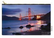 Twilight - Beautiful Sunset View Of The Golden Gate Bridge From Marshalls Beach. Carry-all Pouch