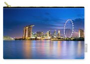 Twilight In Singapore Carry-all Pouch by Ulrich Schade
