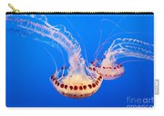 Twin Dancers - Large Colorful Jellyfish Atlantic Sea Nettle Chrysaora Quinquecirrha  Carry-all Pouch