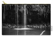 Twin Falls Hana Highway Maui Hawaii Black And White Carry-all Pouch