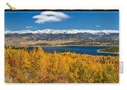 Twin Lakes Colorado Autumn Snow Dusted Mountains Carry-all Pouch by James BO  Insogna